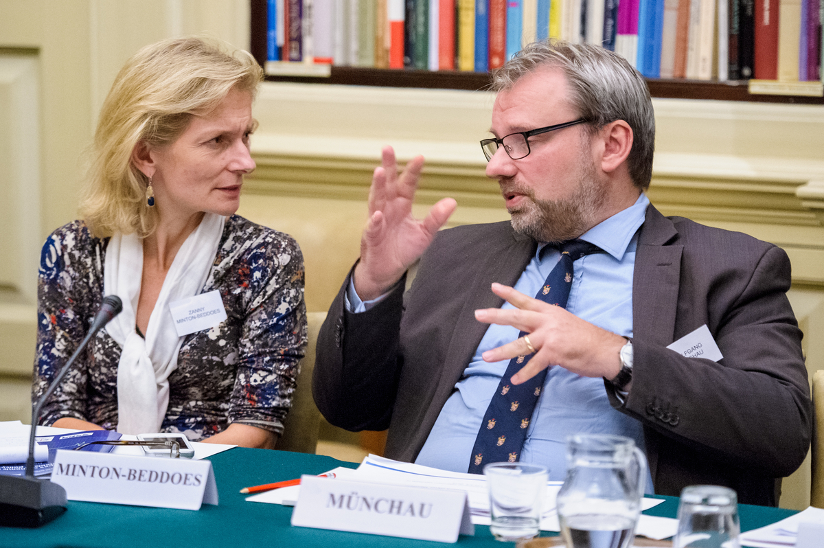 Zanny Minton-Beddoes and Wolfgang Münchau