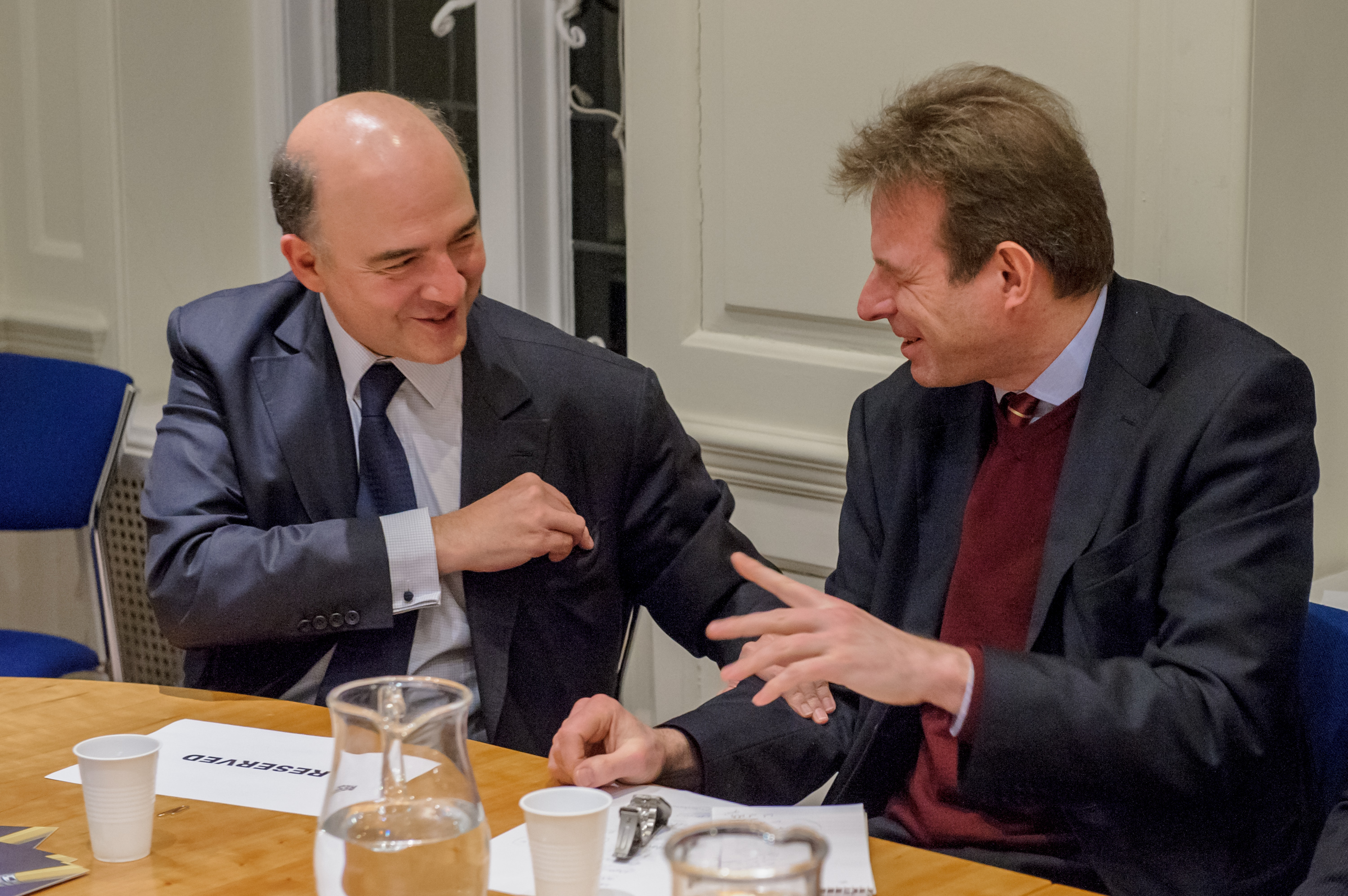 Pierre Moscovici and Charles Grant