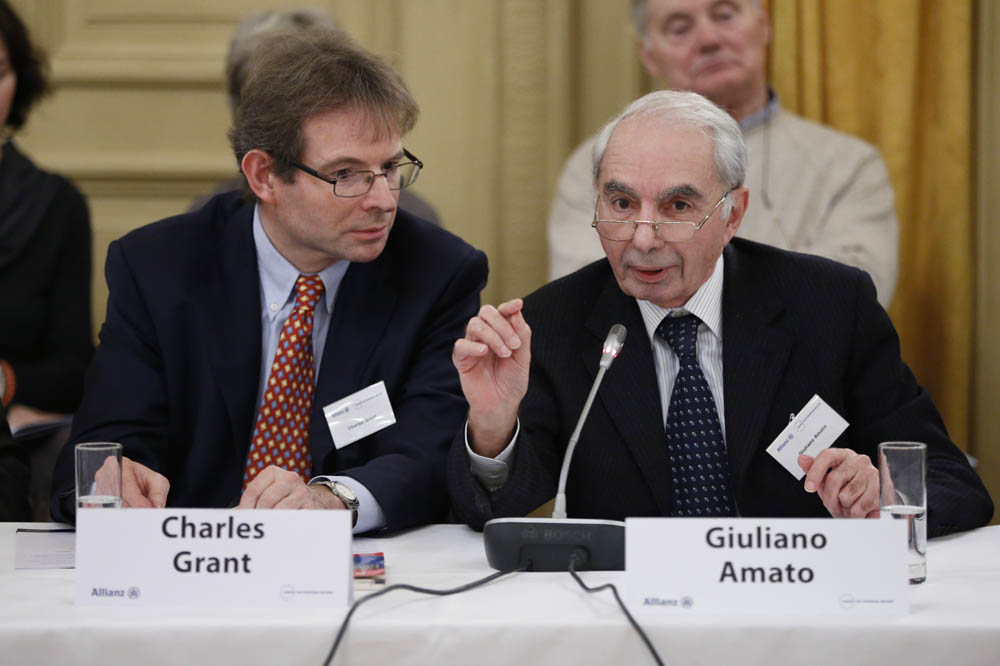 L to R Charles Grant, Giuliano Amato