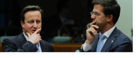 Rutte en Cameron delen de diagnose, maar niet de remedie