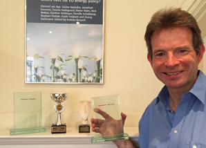 Charles Grant with Prospect 2015 award