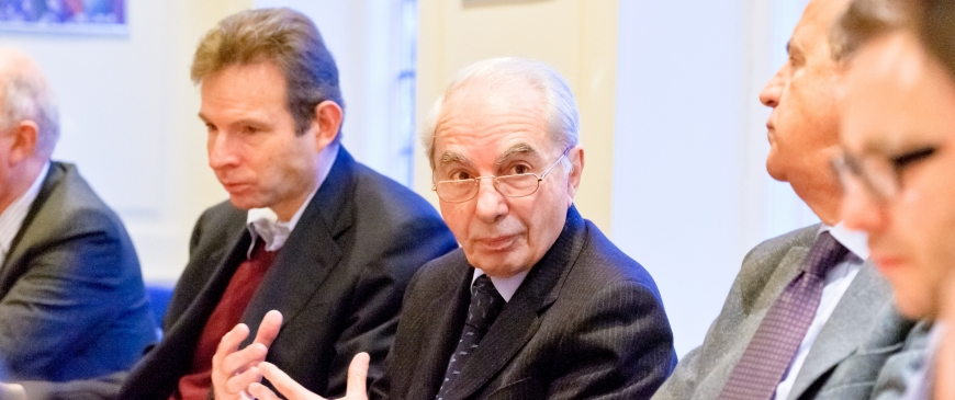 Breakfast with Giuliano Amato on 'Europe's future, and Italy's role in it'