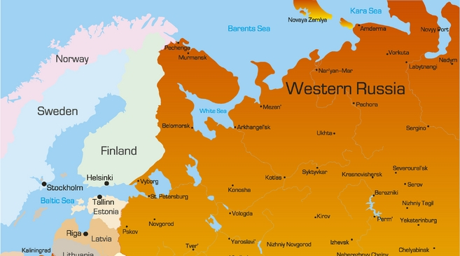 Europe and Russia's continental rift