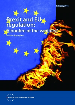Brexit and EU regulation: A bonfire of the vanities?