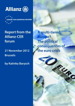 A multi-tier Europe? The political consequences of the euro crisis