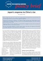 Japan's response to China's rise